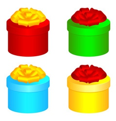 Round gift boxes vector image