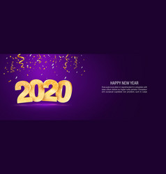 2020 happy new year web banner template vector