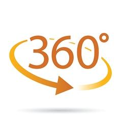 360 orange vector