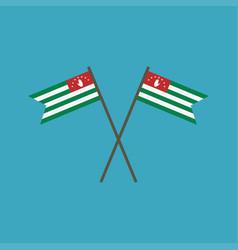abkhazia flag icon in flat design vector image