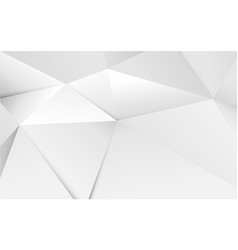abstract 3d geometric white polygon and triangles vector image