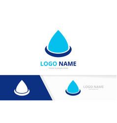 abstract blue water drop unique oil drop logotype vector image