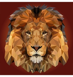 Abstract Low Poly Lion Design vector