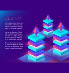 abstract poster or background design with 3d vector image