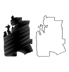 Al-shahaniya state qatar municipalities vector