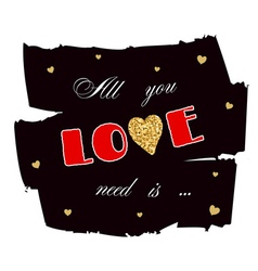 All you need is love gold vector