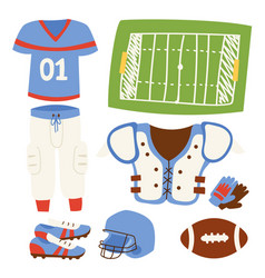 American football player action sport athlete vector