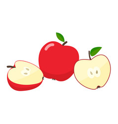 apples cartoon vector image