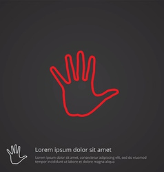 Arm outline symbol red on dark background logo vector