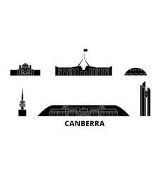 Australia canberra flat travel skyline set vector