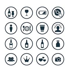 bar icons universal set vector image