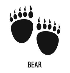 Bear step icon simple style vector