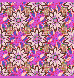 Beautiful fabric pattern colour summer theme vector