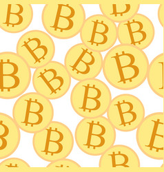 bitcoin crypto currency pattern vector image