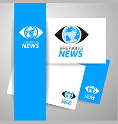 breaking news logo template vector image