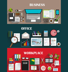 business backgrounds set vector image