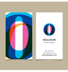 Business card letter o vector