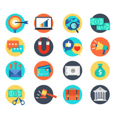 bussiness icon and human resource vector image
