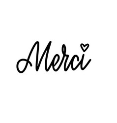 calligraphy design thank you in french vector image