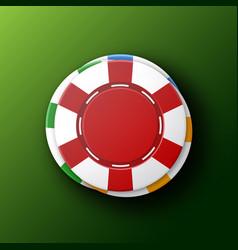 Casino chips top view vector