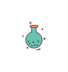 chemistry experiment science test tube icon design vector image