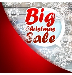 Christmas snowflakes with big sale EPS10 vector image