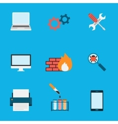 Computer Service Icons Flat vector image