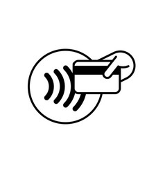 Contactless payment card icon nfc pay logo smart vector