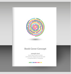 Cover diary or notebook hardcover - rainbow vector