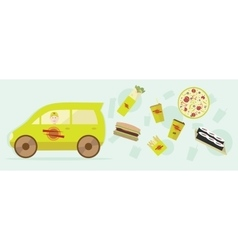 Delivery food graphic design for vector