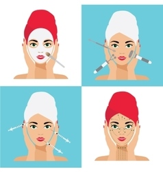 Face Care and Treatment Flat vector image