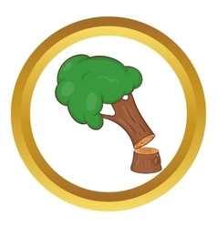 Felled tree icon vector