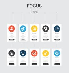Focus infographic 10 steps ui designtarget vector