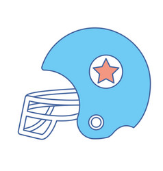 football helment to uniform to play sport vector image