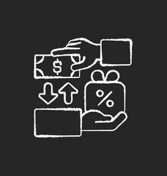 freebie marketing chalk white icon on black vector image