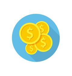 golden coins icon vector image