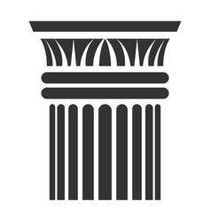 greek column icon sculpture and monument element vector image