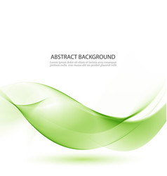 Green waves abstract background vector