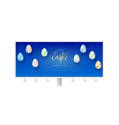 happy easter and goodness to you billboard with vector image