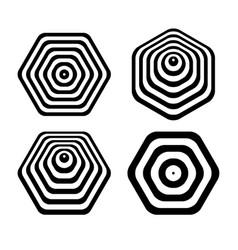 Hexagon design elements vector