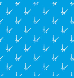 High wheat pattern seamless blue vector