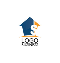 home money business logo vector image
