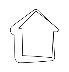 House isolated symbol vector
