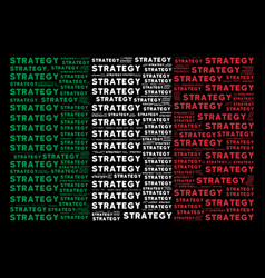 Italian flag collage of strategy text items vector
