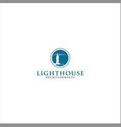 lighthouse logo template design idea vector image