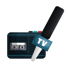 Live news radio recorder vector