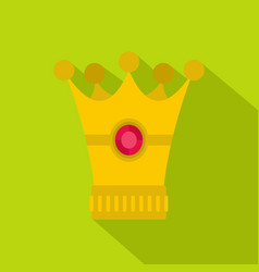 medieval crown icon flat style vector image