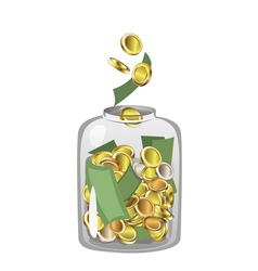 Money Jar vector