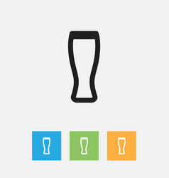 Of meal symbol on beer outline vector