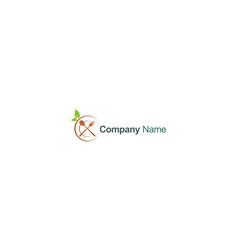 Organic food restaurant company logo vector